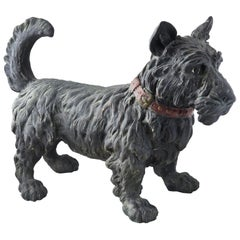 Large Early 20th Century Scottish Terrier Scottie Dog Doorstop Sculpture