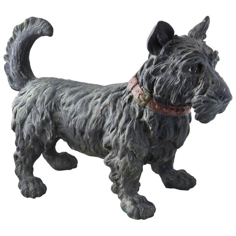 Large Early 20th Century Scottish Terrier Scottie Dog