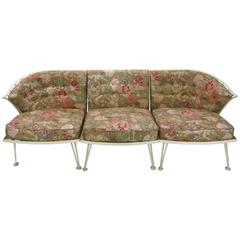 Three-Piece Sectional Garden Sofa Woodard, circa 1940, American