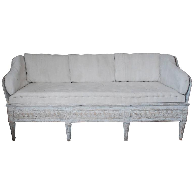 18th Century Swedish Trag Sofa For Sale