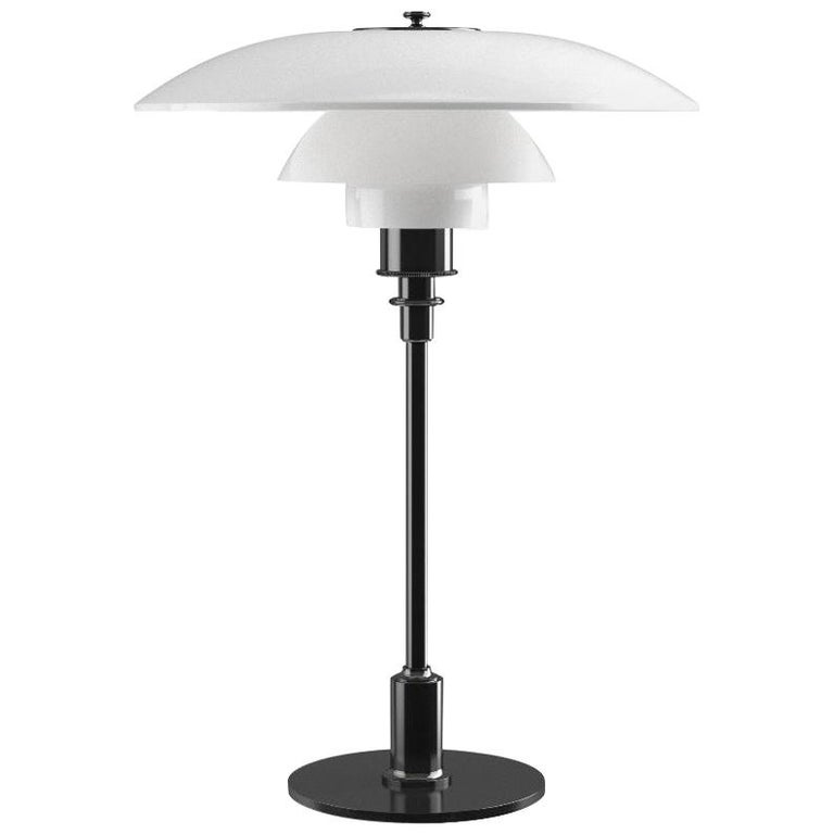 Poul Henningsen Opaline Glass PH 3½-2½ Table Lamp for Louis Poulsen For Sale