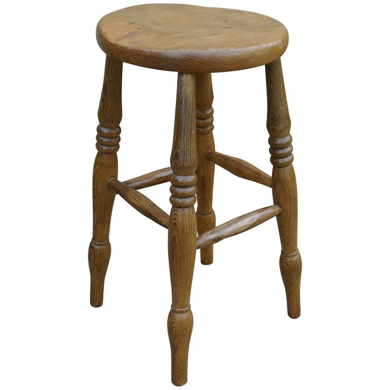 Victorian Ash And Elm Farmhouse Kitchen Stool For Sale At 1stdibs
