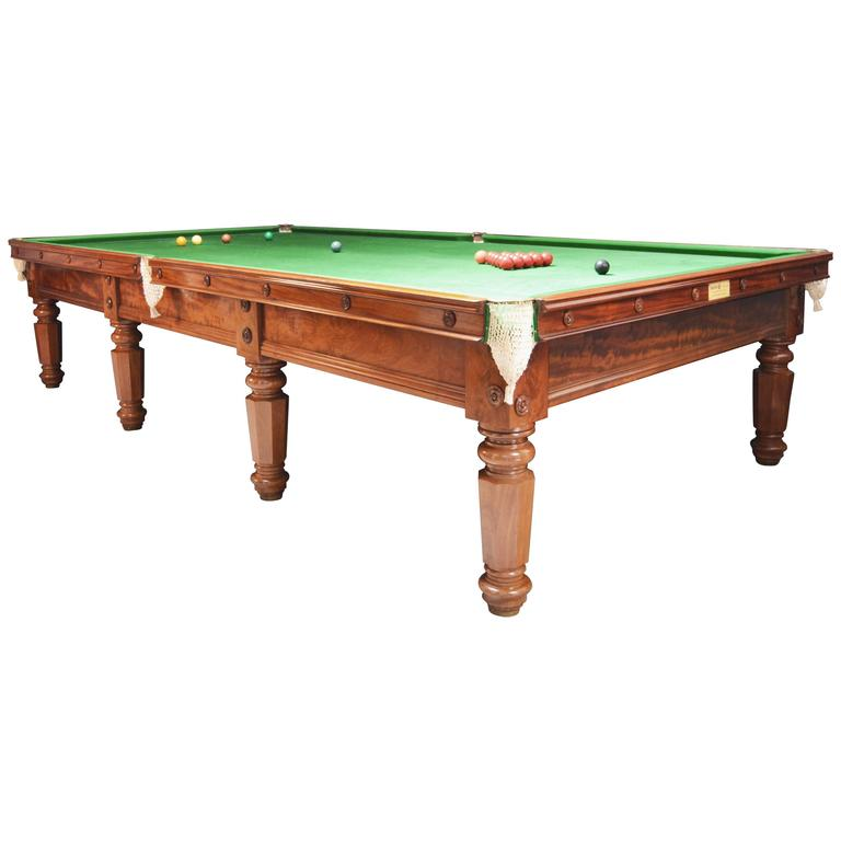 Billiard Snooker Pool Table, circa 1850