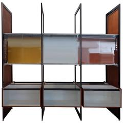 Rare Custom Contract George Nelson Walk Around CSS Display Case Room Divider