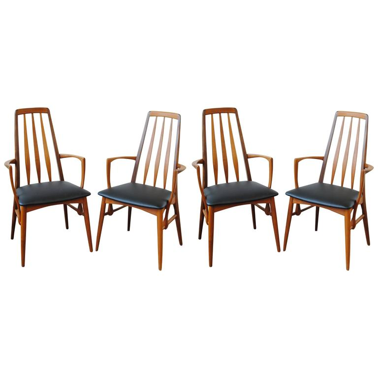 Set of Four Eva Armchairs by Kofoed