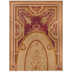 Antique French Palace Size Aubusson Rug circa 1890