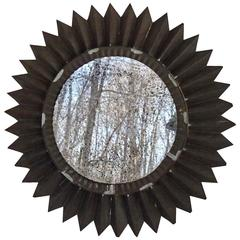 Tin Sunburst Mirror