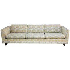 Mid-Century 'Floating' Walnut Sofa in Jack Lenor Larsen Fabric