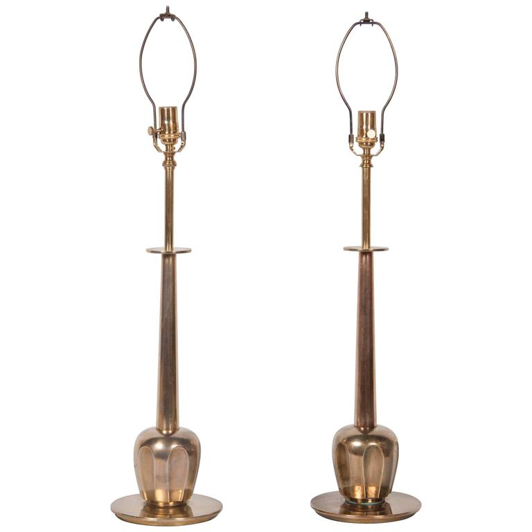 Pair of Brass Stiffel Table Lamps 1