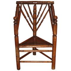 Mid-17th Century Oak Turners Chair Dating from circa 1650