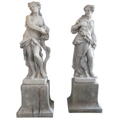 Early 20th Century Italian Seasons Statue
