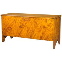 Sienna and Ochre Gain-Painted Six-Board Blanket Chest