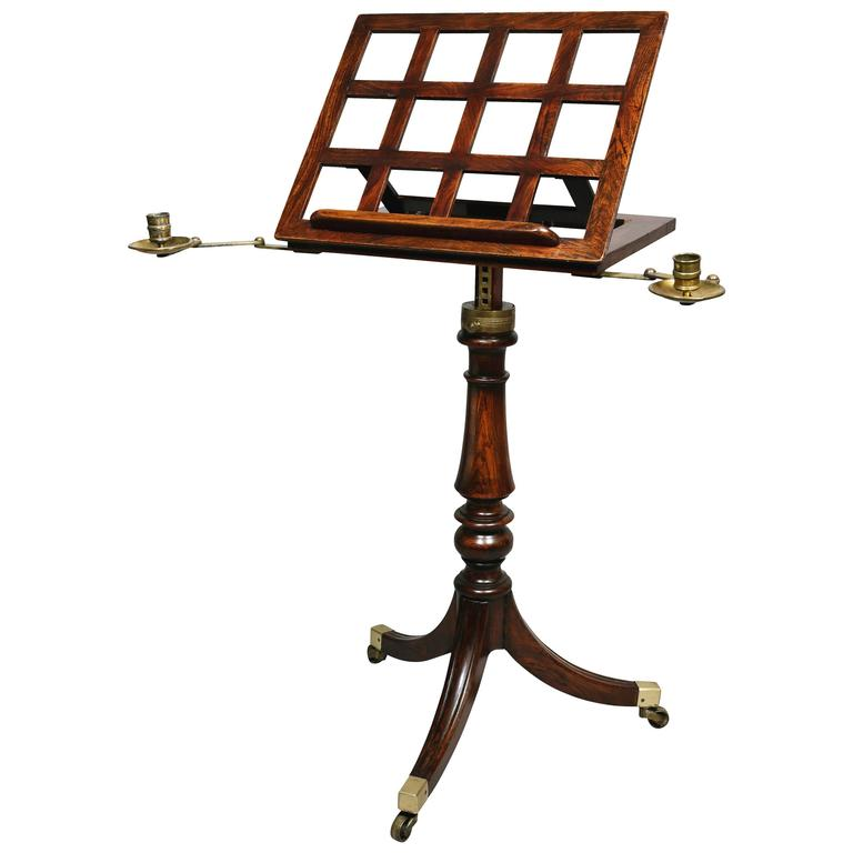 Regency Faux Rosewood Music Stand