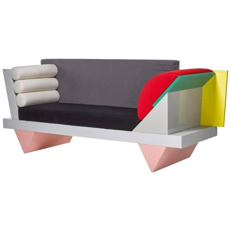 Peter Shire For Memphis Big Sur Sofa At 1stdibs