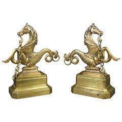 Pair of Brass Gondola Prows