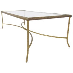 Gilded Bronze Coffee Table Attributed to Maison Bagues, circa 1950s
