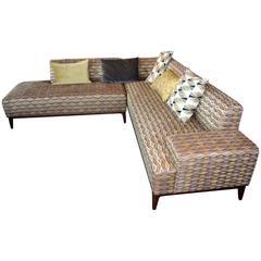Nice Sectional Sofa in a Nice Fabric
