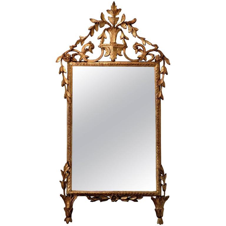 18th Century Neoclassical Italian Mirror For Sale