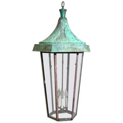 One of a Kind Large Hanging Copper Lantern