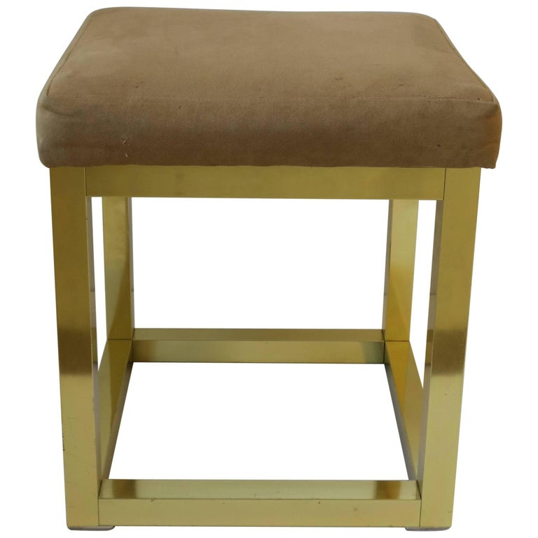 1970s Modern Brass Bench or Stool in the Style of Designer Paul Evans For Sale 13