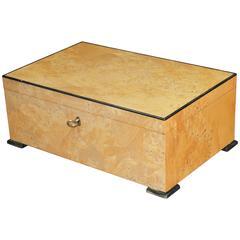 1980s, Italian Burl Wood Box