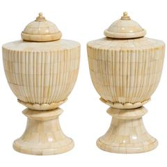 Pair of Bone Urns