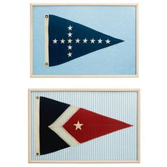 Pair of Framed Nautical Flags