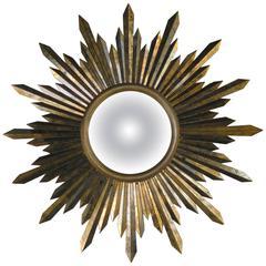 Convex Sunburst Mirror, Attributed to Roberto & Mito Block, Mexico, circa 1940