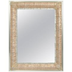 1960s Murano Mirror in Metal Frame
