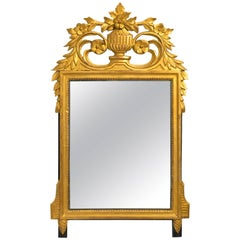Carved Giltwood French Wall Mirror