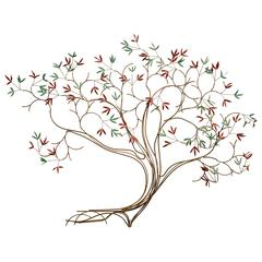 Curtis Jere Style Tree Wall Sculpture