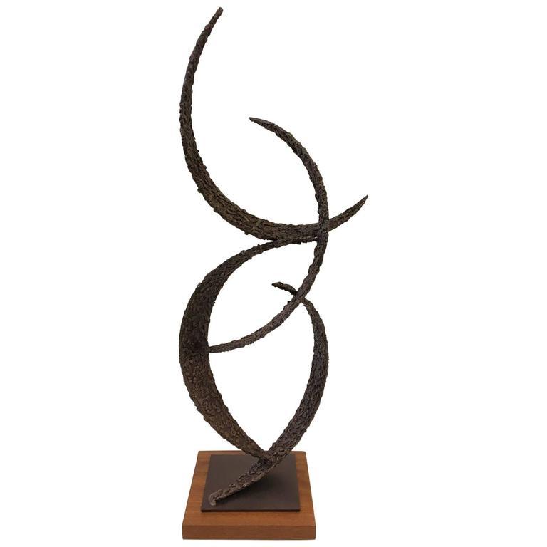 Brutalist Studio Sculpture by American Sculptor John De La Rosa