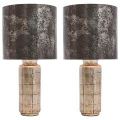 Pair of Gold Leaf Lamps