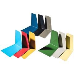 Large Multi-Coloured Set of Bookends with Free Shipping