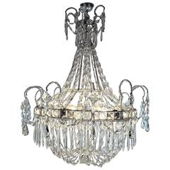 Italian Empire Beaded Crystal Six-Light Chandelier, circa 1860