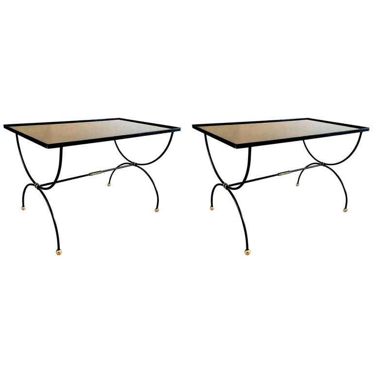 Two Mid-Century Modern French Coffee Center Tables by Maison Jansen, 1950s