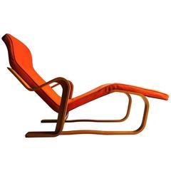Marcel Breuer Long Chair Chaise Longue, Mid-Century, 1970s Bauhaus