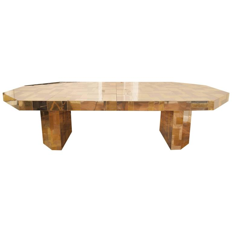 Rare Paul Evans, Dining Table, Cityscape Edition, USA, circa 1970 For Sale