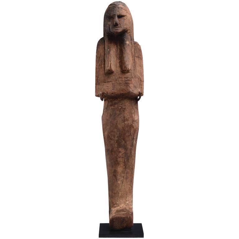 Ancient Egyptian New Kingdom Ramesside Wooden Shabti - 1187 BC