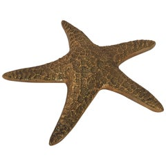 Realistic Cast Metal Starfish