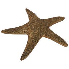 Realistic Cast Metal Starfish