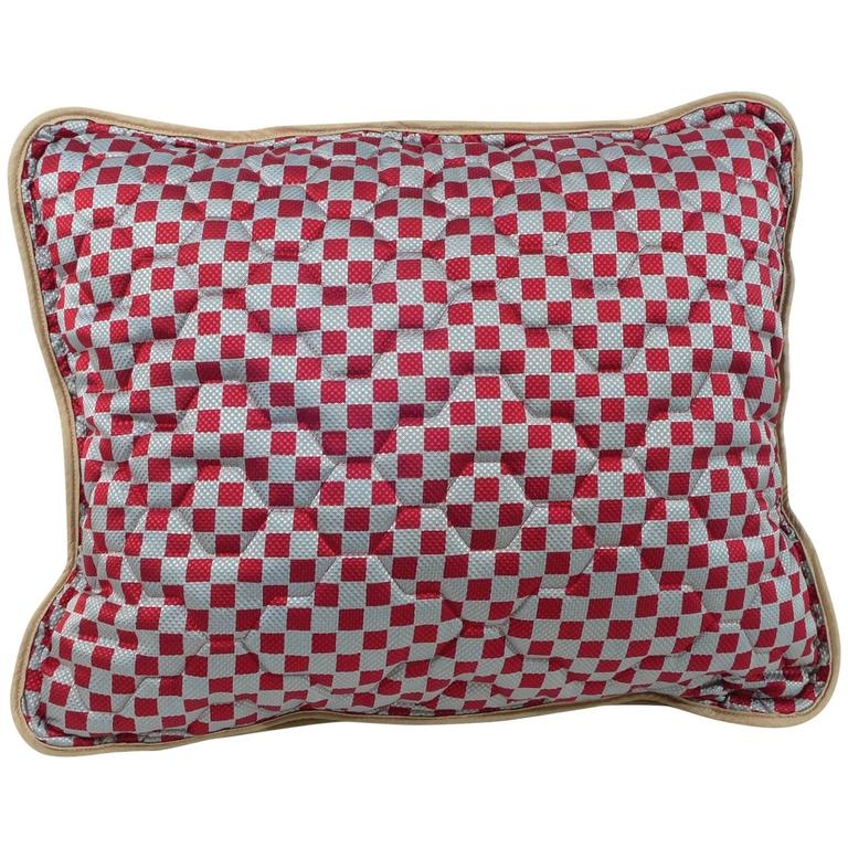 Quilted Vintage Silk Pillow at 1stdibs