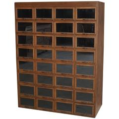 Oak Haberdashery Shop Cabinet or Retail Unit, 1930s