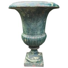 Tall French 19th Century Cast Iron Campana Urn