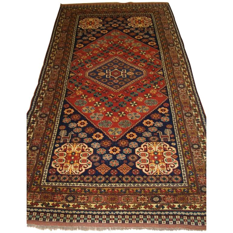 Old Afghan Rug In A Persian Tribal Qashqai Design, Great