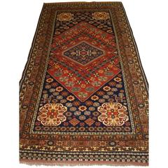 Old Afghan Rug in a Persian Tribal Qashqai Design, Great Colors
