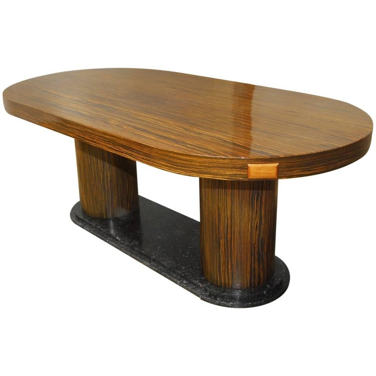 Modern Italian Zebrawood Conference Table or Dining Table For Sale
