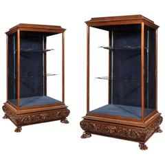 Magnificent Pair of 19th Century Display Cabinets