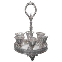 Sheffield Marked Silvered Eggcup Cruet