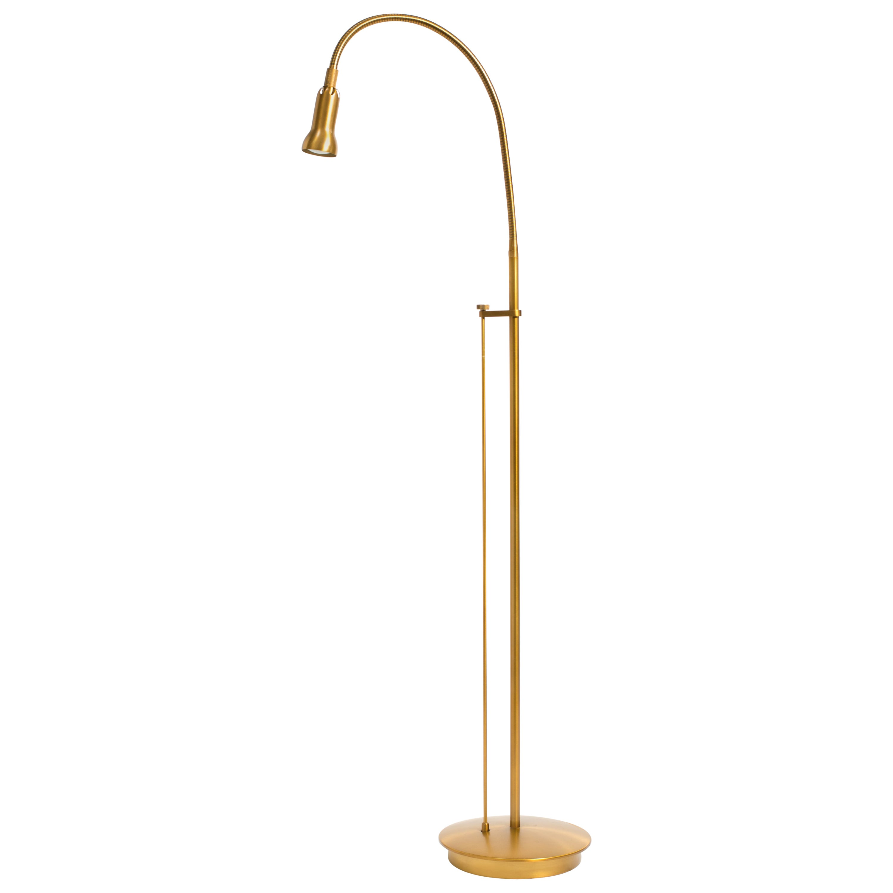 Brass gooseneck floor lamp for sale at 1stdibs
